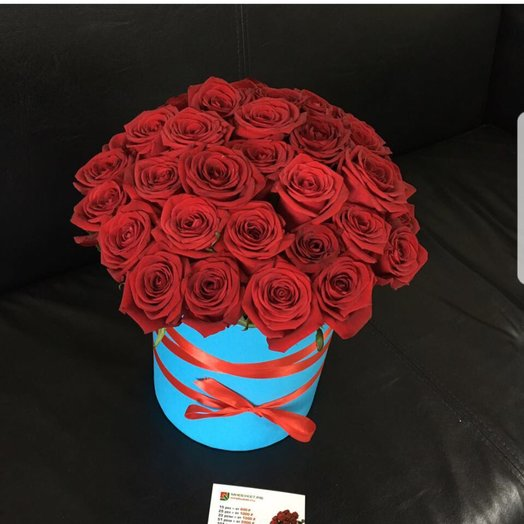Коробочка из 25 роз: букеты цветов на заказ Flowwow