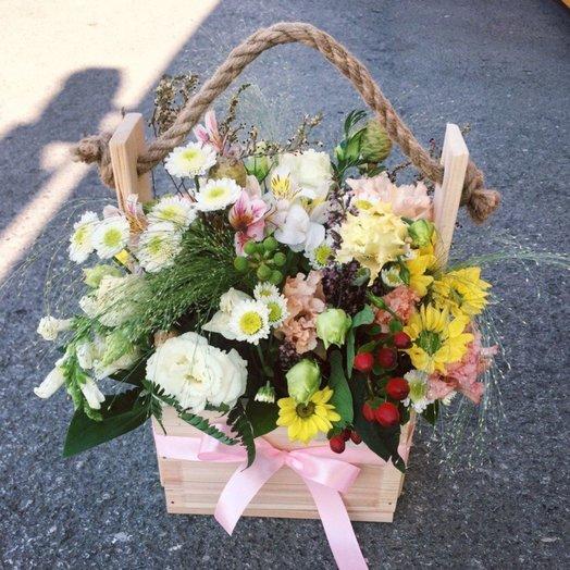 Полевой ящик: букеты цветов на заказ Flowwow