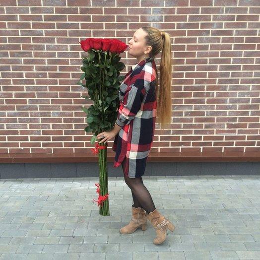Высокие розы 140 см: букеты цветов на заказ Flowwow