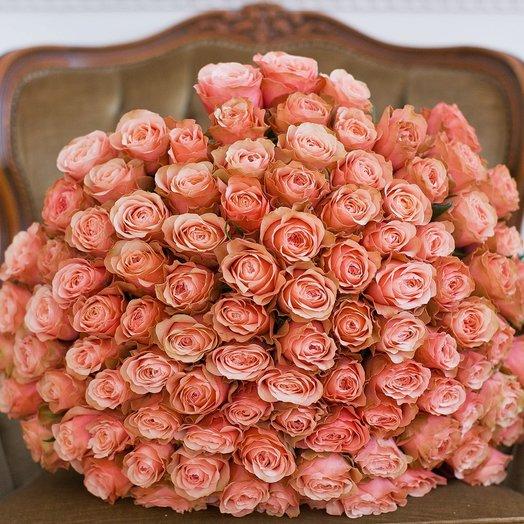 Букет из 101 розы «Kahala»: букеты цветов на заказ Flowwow
