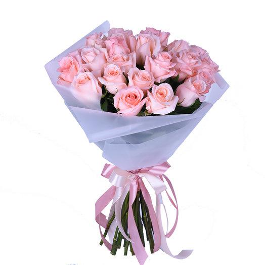 "Букет розовых роз ""Нежность"": букеты цветов на заказ Flowwow"