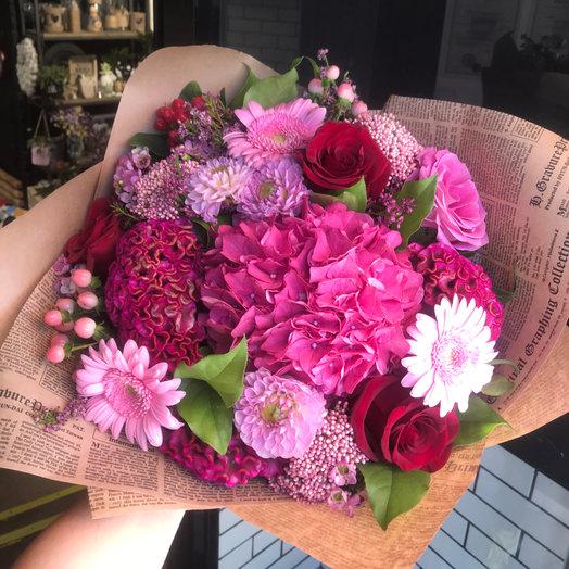 Малиновый букет : букеты цветов на заказ Flowwow