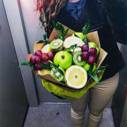 Фруктовый букет «Здоровье»: букеты цветов на заказ Flowwow