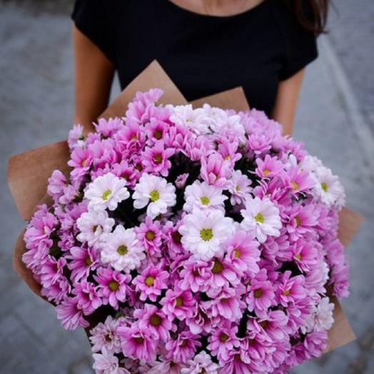 Нежное облако из хризантем: букеты цветов на заказ Flowwow