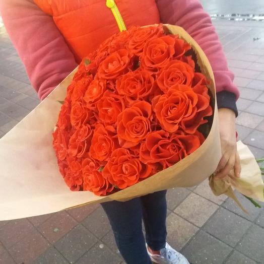 """Букет из алой розы """"Эль-Торо"""": букеты цветов на заказ Flowwow"""