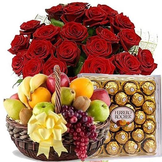 Подарочный набор 51 роза: букеты цветов на заказ Flowwow