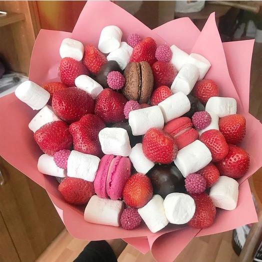 Сладкий букет «Бонжур»: букеты цветов на заказ Flowwow