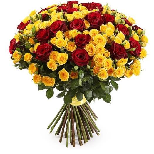 "Букет роз ""Юнона и Авось"": букеты цветов на заказ Flowwow"