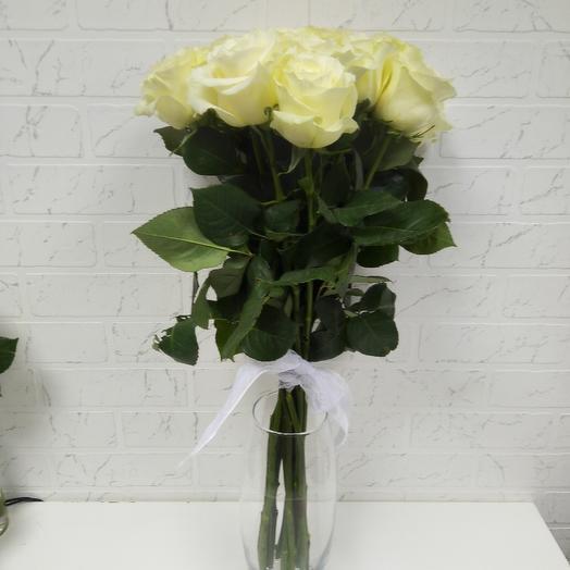 Роза белая 11 шт: букеты цветов на заказ Flowwow
