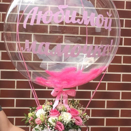 На воздушном шаре: букеты цветов на заказ Flowwow