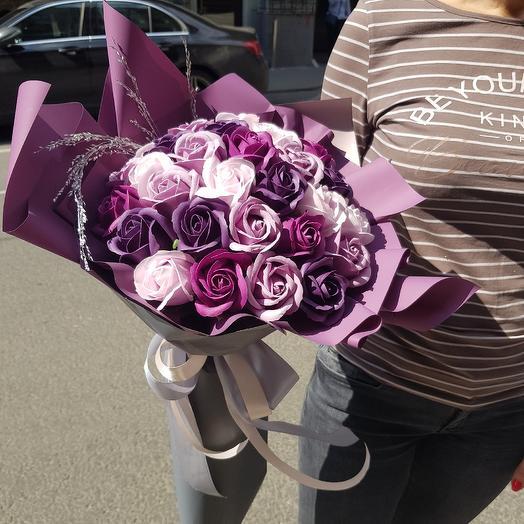 Букет роз из мыла: букеты цветов на заказ Flowwow