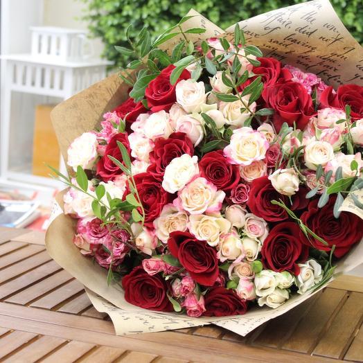 Mixed bouquet Paris. Craft: букеты цветов на заказ Flowwow