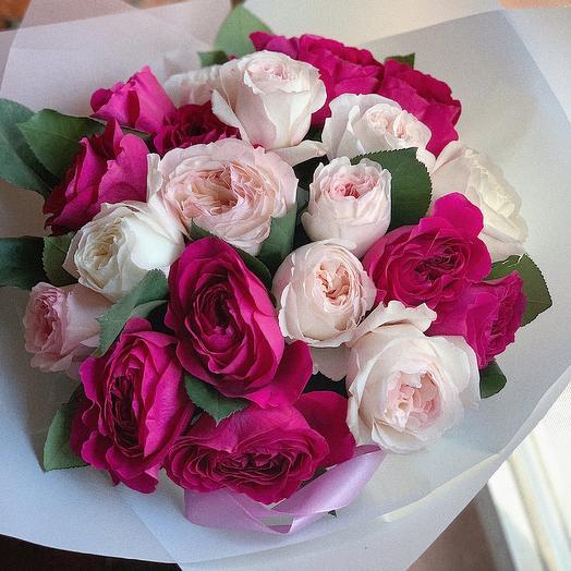 Ароматные розы Дэвида Остина: букеты цветов на заказ Flowwow