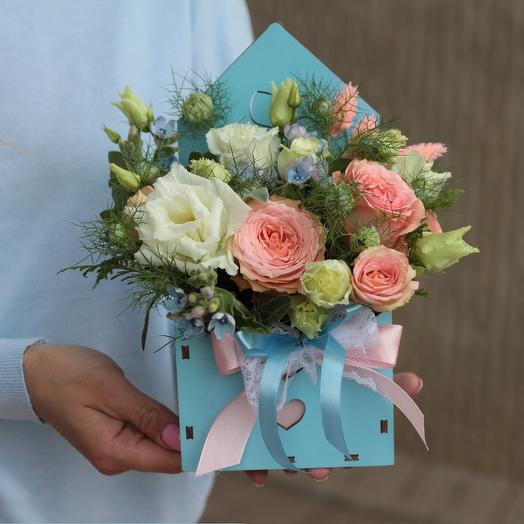Трепетное письмо: букеты цветов на заказ Flowwow