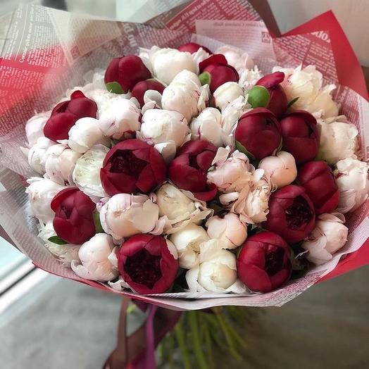 Пионы M: букеты цветов на заказ Flowwow