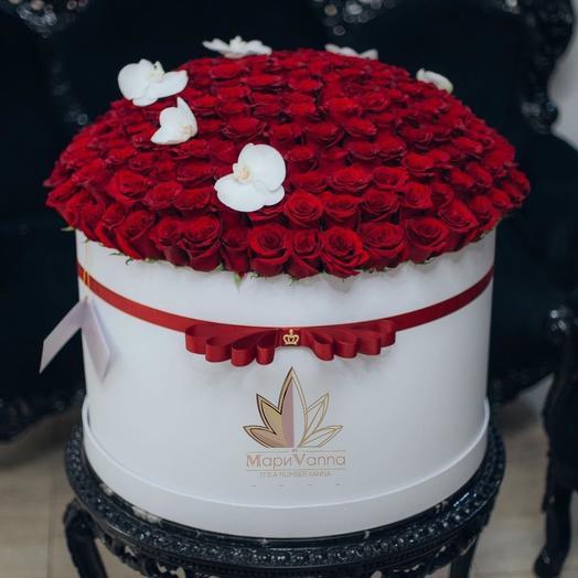 121 роза с орхидеями: букеты цветов на заказ Flowwow