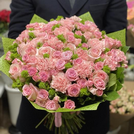 Букет из розовых цветов: букеты цветов на заказ Flowwow