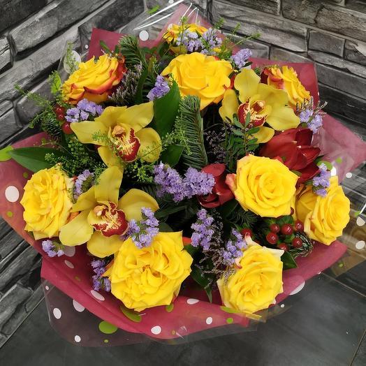 """Яркий жизнерадостный букет """"Мороз и солнце""""️: букеты цветов на заказ Flowwow"""