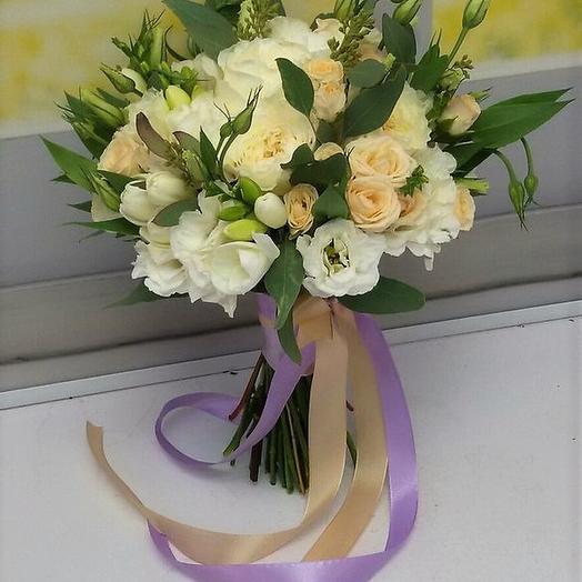 """Свадебный букет """"Принцесса Аврора"""": букеты цветов на заказ Flowwow"""