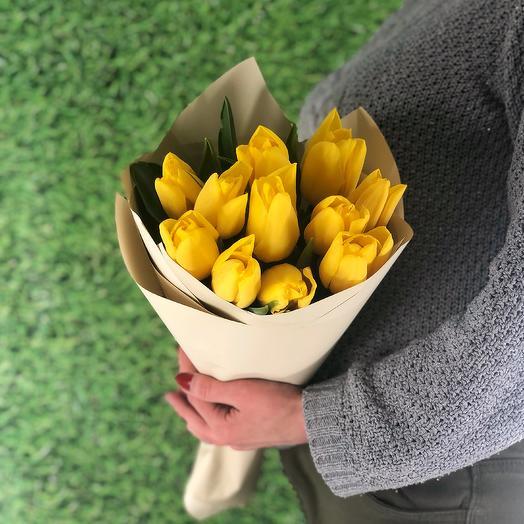 Bright sun (11 tulips)