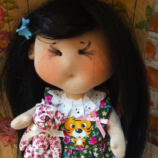 Кукла ручной работы Настюша: букеты цветов на заказ Flowwow
