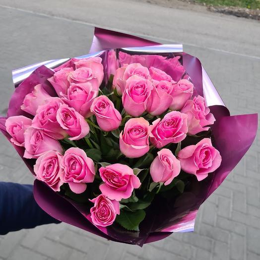 25 пионовидных роз: букеты цветов на заказ Flowwow