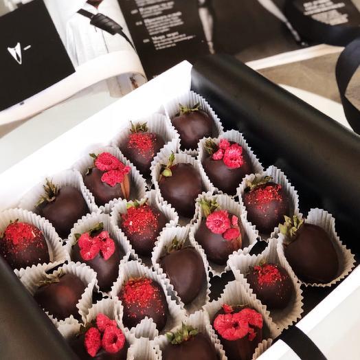 """Большой набор клубники в темном шоколаде """"Dark Berry"""""""