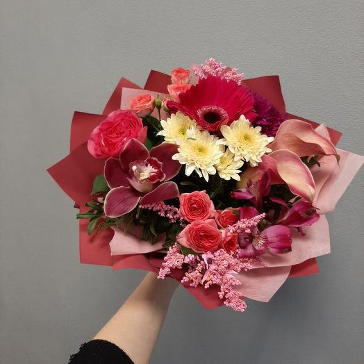 "Букет ""Малиновые сны"": букеты цветов на заказ Flowwow"