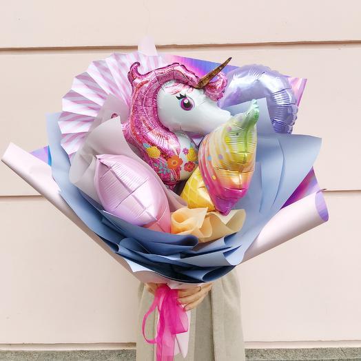 Букет из воздушных шаров «Зефир»: букеты цветов на заказ Flowwow