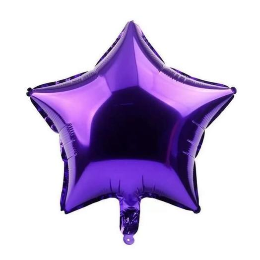 Rosalina - шар с гелием фольгированная  звезда металлик фиолетовый