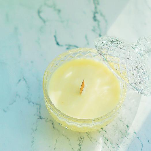 Свеча ручной работы из соевого воска- Корица/апельсин: букеты цветов на заказ Flowwow