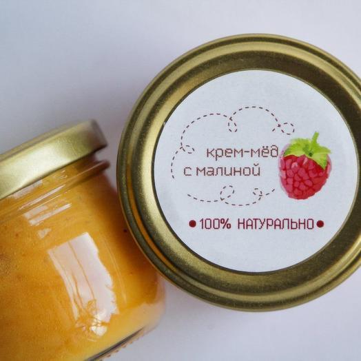 """Крем-мед с малиной """"Люблю домашнее"""" 100г"""