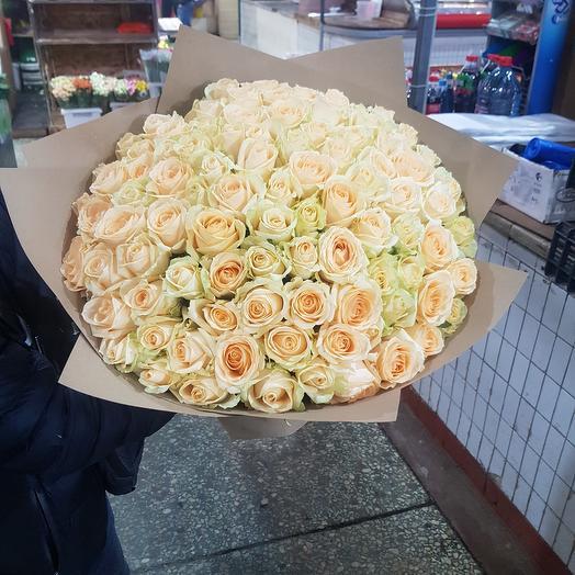 Букет из персиковые роза