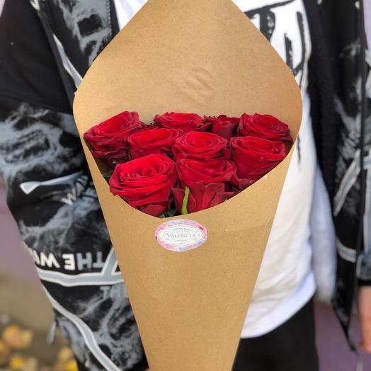 "Букет из красных роз ""Теплая улыбка"""