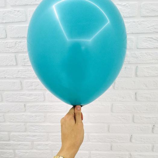 19 Бирюзовый Гелиевый шар пастель 30см с обработкой