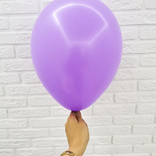 11 Сиреневый Гелиевый шар пастель 30см с обработкой