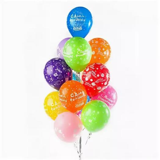 """Воздушный букет """"С Днём рождения"""""""