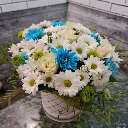 Коробочка с цветами Нежный прибой