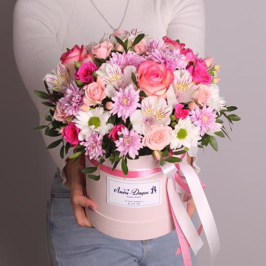 Цветы в коробке «Признание»
