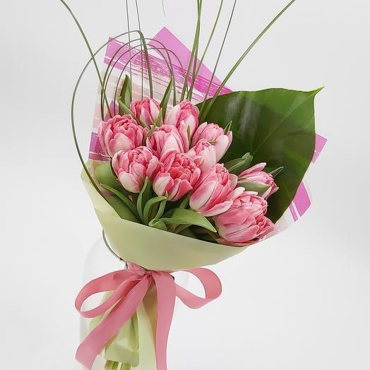 Фокстрот: 11 пионовидных тюльпанов
