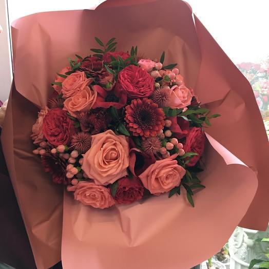 Букет цветов « Bordeaux»