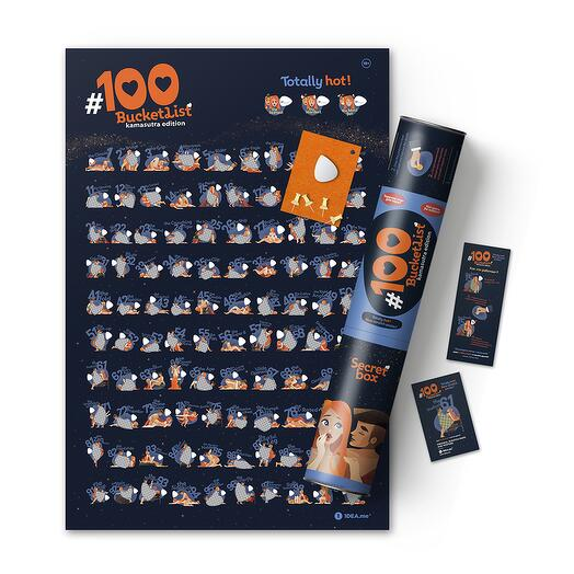 Интерактивный скретч постер 100 Bucketlist KAMASUTRA edition