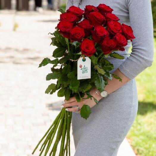 """Розы """"Montana"""" красные 15 шт"""