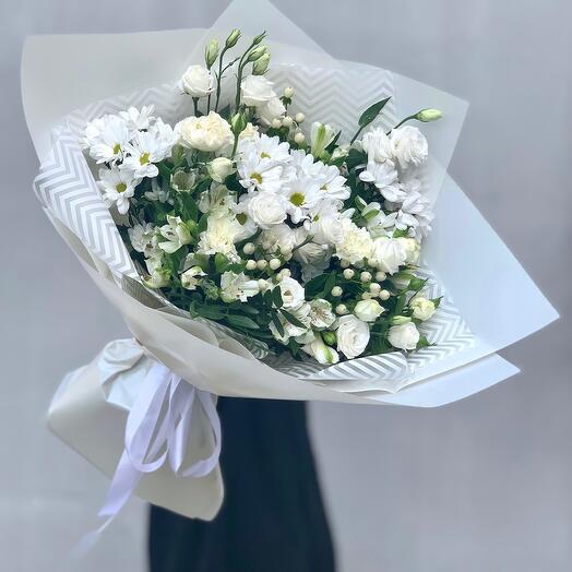 """Bouquet with taste"" L white"