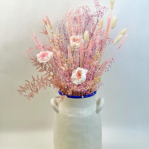 Интерьерная ваза с колосьями