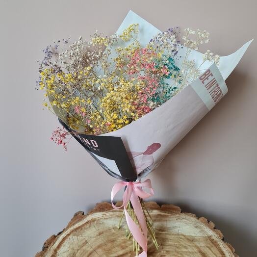 Интерьерный букет из сухоцветов