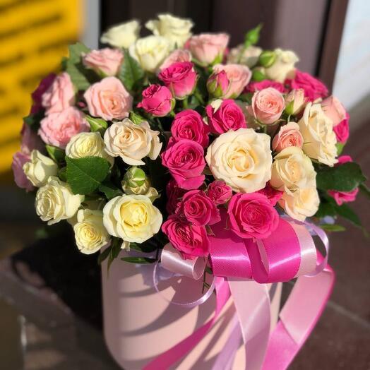 Цилиндр с кустовой розой