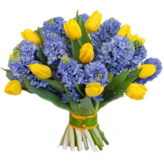 Тюльпаны с гиацинтами