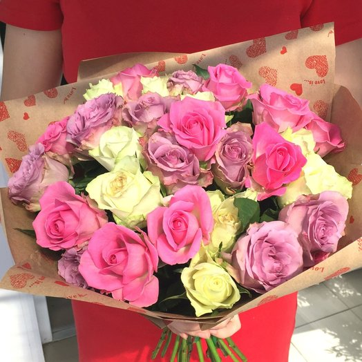27 роз: букеты цветов на заказ Flowwow