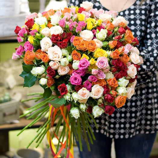 Букет из роз Кустовые розы: букеты цветов на заказ Flowwow